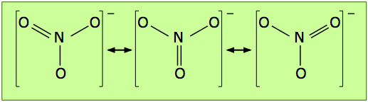 Image of the Nitrate Ion, NO3.