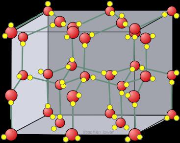 Descrição: estrutura de cristais de gelo