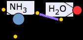 Descrição: ligação de hidrogênio água-amônia